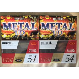 マクセル(maxell)の《未使用 新品》 Maxell マクセル カセットテープ 4本(その他)