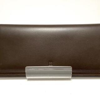 ジバンシィ(GIVENCHY)のジバンシー 札入れ美品  - ダークブラウン(財布)