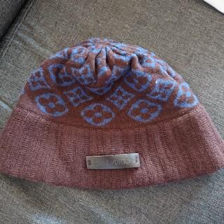 ルイヴィトン(LOUIS VUITTON)のLOUIS VUITTON ニット帽 (正規品)(ハット)