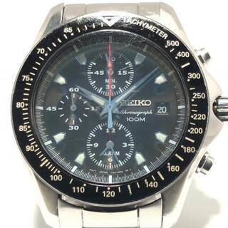 セイコー(SEIKO)のセイコー 腕時計 - 7T62-0ER0 メンズ 黒(その他)