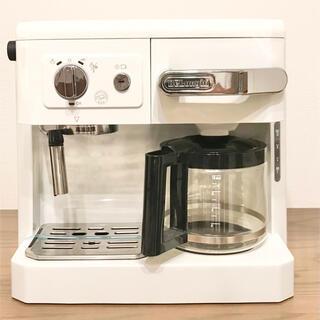 デロンギ(DeLonghi)のデロンギ コンビコーヒーメーカーホワイトBCO410J-W(コーヒーメーカー)