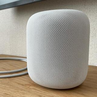 アップル(Apple)のApple HomePod ホワイト フィルム付き 箱あり(スピーカー)