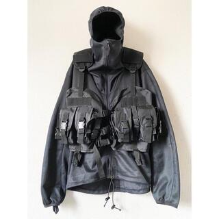 ヨウジヤマモト(Yohji Yamamoto)のdead stock unknown ブラック タクティカルベスト ジャケット(ミリタリージャケット)