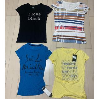 アルマーニエクスチェンジ(ARMANI EXCHANGE)のアルマーニエクスチェンジレディースtシャツ4枚セット(Tシャツ(半袖/袖なし))