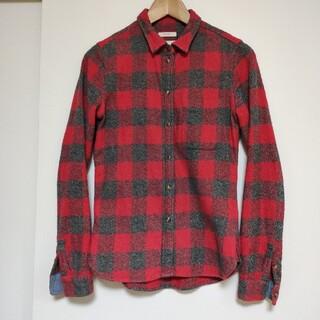 アメリカンイーグル(American Eagle)のネルシャツ サイズS程度 細身(シャツ/ブラウス(長袖/七分))