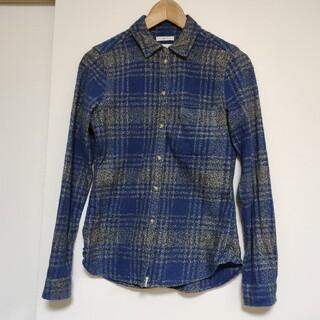 アメリカンイーグル(American Eagle)のネルシャツ サイズS程度 細身 スリムフィット(シャツ/ブラウス(長袖/七分))