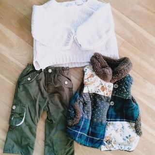 ザラキッズ(ZARA KIDS)の【最終お値下げ】女の子 冬用パンツ80cm セーター ベスト(その他)