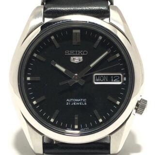 セイコー(SEIKO)のセイコー 腕時計 5(ファイブ) 7S26-01V0 黒(その他)