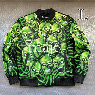 シュプリーム(Supreme)の未使用【Lサイズ】supreme  skull bomber jacket (レザージャケット)