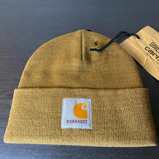 ワコマリア(WACKO MARIA)の【即日発送】Carhartt × WACKO MARIA ビーニー 帽子 茶(ニット帽/ビーニー)