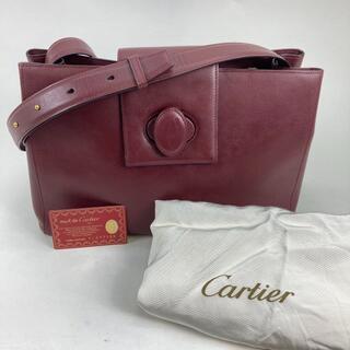 カルティエ(Cartier)のカルティエ マスト ショルダーバッグ  レザー レッド(ショルダーバッグ)