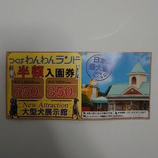 わんわんランド 半額入園券(遊園地/テーマパーク)