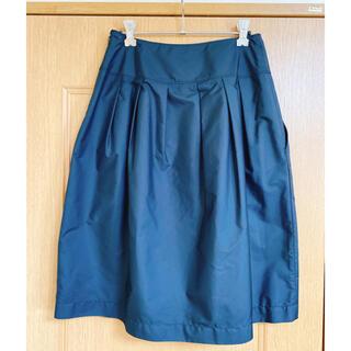 アツロウタヤマ(ATSURO TAYAMA)のリミテッドエディション フレア黒スカート(ひざ丈スカート)