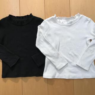 ユニクロ(UNIQLO)のユニクロ リブ フリル カットソー 2枚セット(Tシャツ/カットソー)