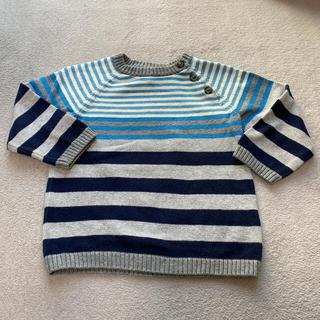 エイチアンドエム(H&M)の専用出品H&Mボーダーニット プチバトーチェックシャツ 男の子 コットン生地(ニット/セーター)