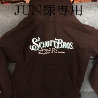 ショット(schott)のschott 黒 パーカーとシャツ未使用 XL(パーカー)