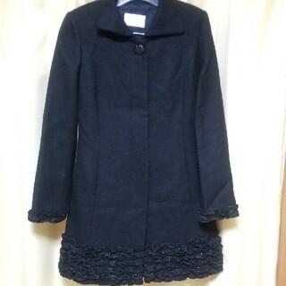 アベニールエトワール(Aveniretoile)のAvenir Etoile 裾や袖にフリルがあしらわれたコート ヒップが隠れる丈(ロングコート)