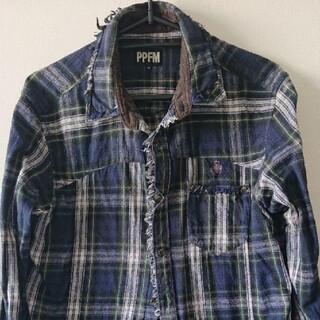 ピーピーエフエム(PPFM)のPPFM 長袖チェックシャツ(シャツ)