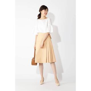 ナチュラルビューティーベーシック(NATURAL BEAUTY BASIC)のNATURAL BEAUTY BASIC サイドタックススカート(ひざ丈スカート)