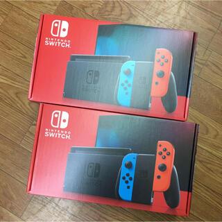 ニンテンドースイッチ(Nintendo Switch)のNintendo Switch ニンテンドー スイッチ 本体 ネオン 2台セット(家庭用ゲーム機本体)