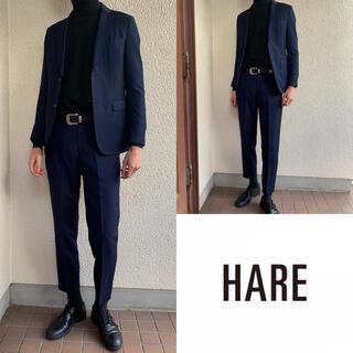 HARE - 美品 【HARE】ネイビー セットアップ  スーツ M ハレ