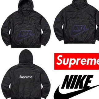 シュプリーム(Supreme)の【値下げ!】新品 Supreme Nike Leather Anorak【M】(レザージャケット)