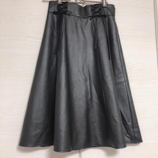 アクシーズファム(axes femme)の【axes femme】レザースカート(ひざ丈スカート)