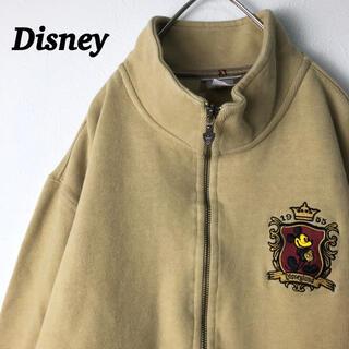 ディズニー(Disney)の古着 ディズニー フルジップスウェット 刺繍ロゴ ミッキー(その他)