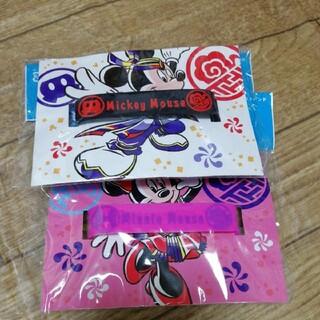 ディズニー(Disney)の新品 ゴム製リストバンド 購入価格1200円 ミッキーとミニー2つセット(バングル/リストバンド)