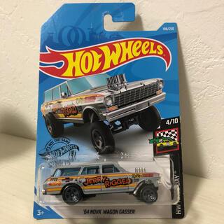 シボレー(Chevrolet)のホットウィール NOVA WAGON GASSER ノバ ワゴンギャッサ(ミニカー)