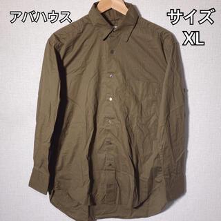 アバハウス(ABAHOUSE)のABAHOUSE シャツ メンズ カーキ XLサイズ 大きいサイズ シンプル(シャツ)
