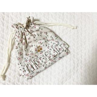 ボンポワン(Bonpoint)のhandmade リバティ 巾着 フローティングフローラ(外出用品)