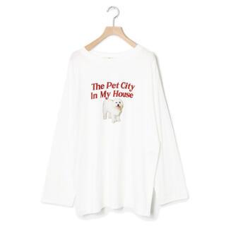 ダブルクローゼット(w closet)のw closet dogプリントロンT(Tシャツ(長袖/七分))