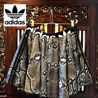 アディダス(adidas)のアディダス パイソン柄 ジャージ スカート パンツ 浜崎あゆみ ヘビ柄 ML(ミニスカート)