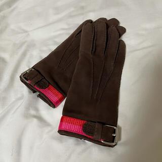 ロエベ(LOEWE)の最終値下げ!loewe ロエベ グローブ 手袋 スエード 茶色(手袋)