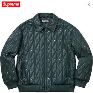 シュプリーム(Supreme)のSupreme Quilted Studded Leather Jacket(レザージャケット)