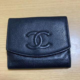 シャネル(CHANEL)のCHANEL キャビアスキン  二つ折り財布(財布)