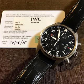 IWC - IWC パイロットクロノ iw377701 自動巻 保証書付き
