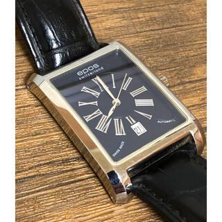 エポス(EPOS)のepos/エポス 自動巻き 腕時計 メンズ レザーベルト 動作品 文字盤ブルー(腕時計(アナログ))