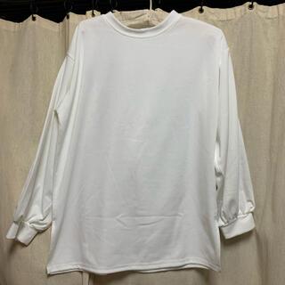 シマムラ(しまむら)のしまむら 白ロングTシャツ 試着のみ(Tシャツ(長袖/七分))