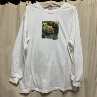 シマムラ(しまむら)のしまむら ロングTシャツ 花 試着のみ M(Tシャツ(長袖/七分))