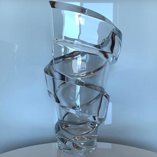 バカラ(Baccarat)の✯ 傑作 Baccarat スパイラル ベース クリスタル 花瓶 オブジェ✯(花瓶)