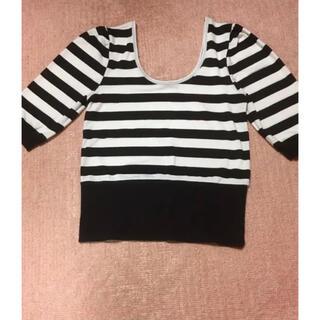 アナップ(ANAP)の美品  ANAP ボーダーTシャツ(Tシャツ(長袖/七分))