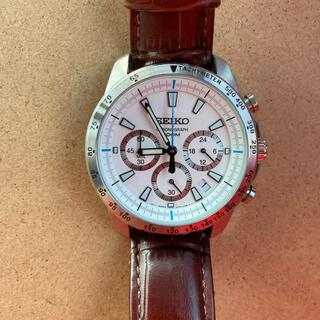 セイコー(SEIKO)の美品!SEIKO クロノグラフ クオーツ 革ベルト! (腕時計(アナログ))