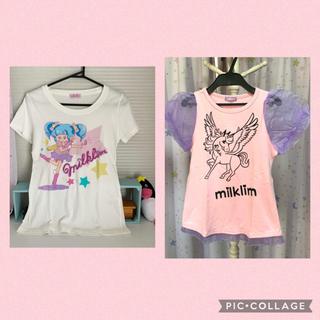 ミルクリーム(milklim)のmilklim 魔法少女Tシャツ(Tシャツ(半袖/袖なし))