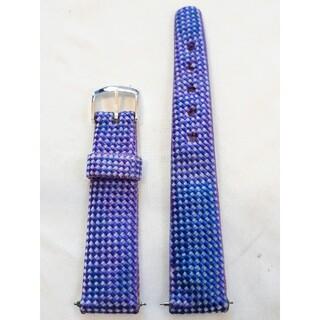 マルマン(Maruman)の商品NO.24♪ラグ幅18.5mm【新品・バネ棒付】マルマン♪青色ナイロンベルト(その他)