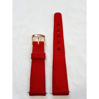 マルマン(Maruman)の商品NO.23♪ラグ幅18.5mm【新品・バネ棒付】マルマン♪赤色ナイロンベルト(その他)