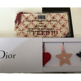 クリスチャンディオール(Christian Dior)のDIOR ノベルティチャーム CLARINS ノベルティポーチ(ノベルティグッズ)