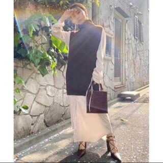 アメリヴィンテージ(Ameri VINTAGE)のVEST LAYERED SHIRT DRESS(ロングワンピース/マキシワンピース)