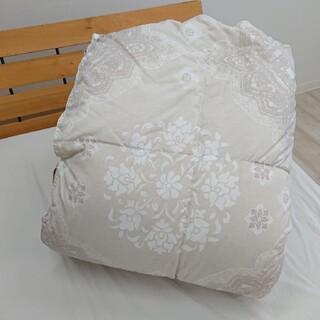 ニシカワ(西川)の日本製 西川 デュエットタイプ 羽毛ふとん シングルサイズ(布団)